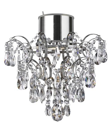 Searchlight Bathroom Chandelier - K5 Crystals & Droplets - Ip44