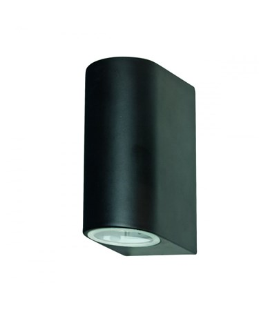 Searchlight Outdoor & Porch Wall Up & Downlight - Black - Ip44