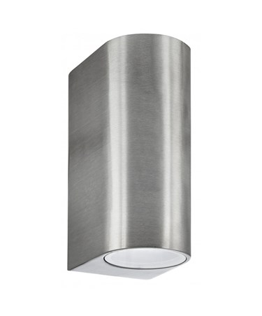 Searchlight Outdoor & Porch Wall Up & Downlight - Satin Silver - Ip44