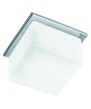 Searchlight Recessed Downlight With Square Opal Cube Glass