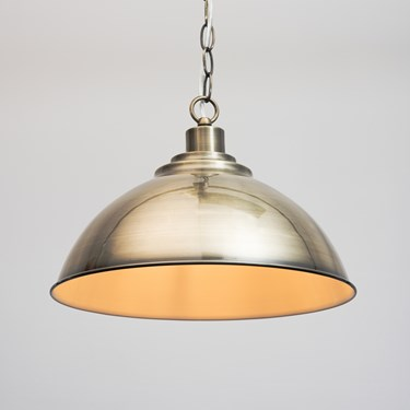 Modern Dome Shape Designer Pendant Ceiling Light - Antique Brass