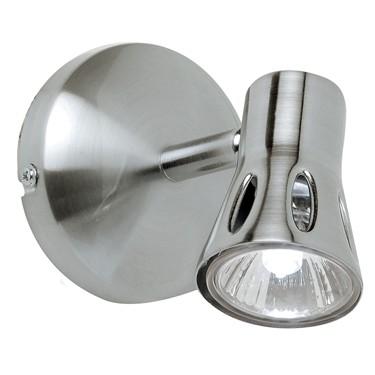 Endon Krius Single Spotlight - Adjustable - Satin Nickel
