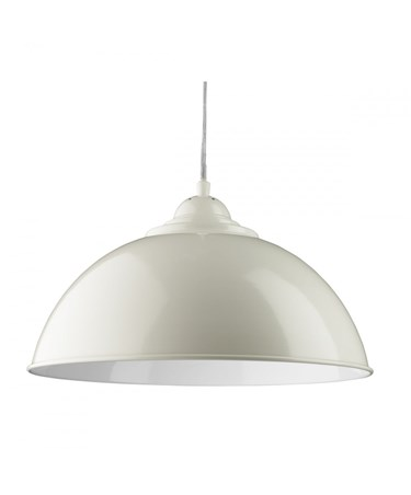 Searchlight Sanford Modern Ceilng Pendant Half Dome - Ivory With White Inner