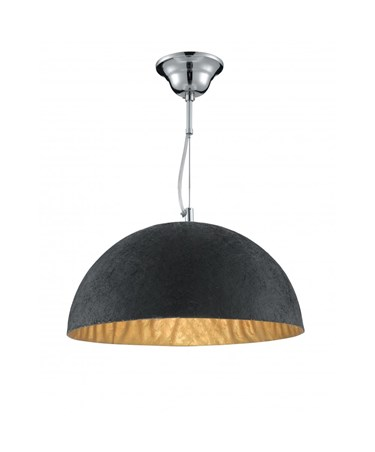 Searchlight Dome Pendant Light - Black & Gold
