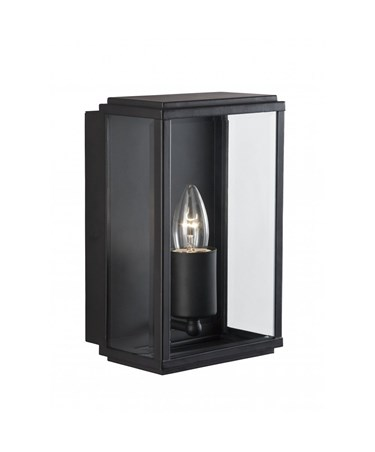 Searchlight Outdoor Wall & Porch  Light - Black Rectangle Box - Candle