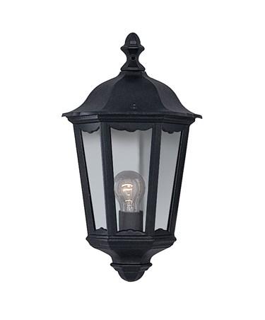 Searchlight Alex Traditional Outdoor Wall Light - 1 Light - Black