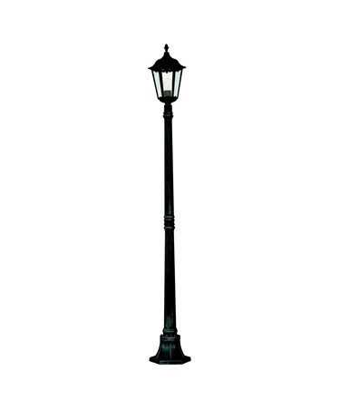 Searchlight Alex Traditional Outdoor Post Lamp - 1 Light - Black