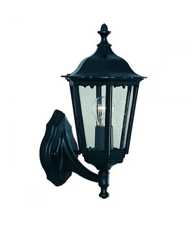 Searchlight Alex Traditional Outdoor Wall Light - 1 Light - Black Uplight