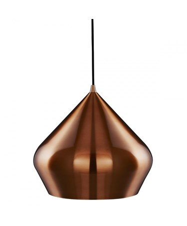 Searchlight Vibrant Pyramid Shaped Pendant Light - Copper