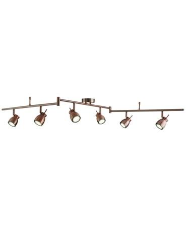 Searchlight Jupiter Ceiling 6 Spot Bar Spotlight - Antique Copper - Adjustable