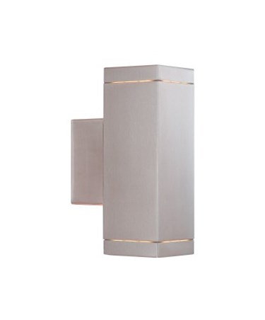 Searchlight Outdoor & Porch Square Up & Downlight - Satin Silver- Ip44