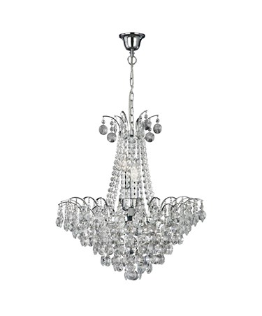 Searchlight Limoges Semi Flush Ceiling 6 Light - Sunflower Crystals