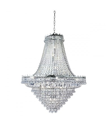 Searchlight Versailles 19 Light Clear Crystal Chandelier - Chrome - 1022Cm Dia