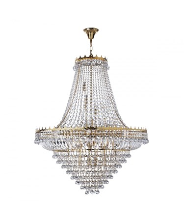 Searchlight Versailles 19 Light Clear Crystal Chandelier - Gold - 1022Cm Dia