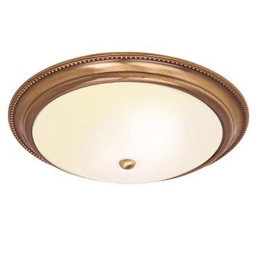 Endon Atlas Flush Ceiling Light - Antique Brass