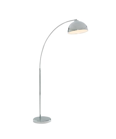 Searchlight Giraffe Floor Lamp With Dome Shade - Chrome