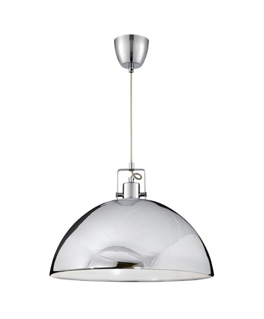 Searchlight Domas Single Dome Pendant Light - Chrome - 400Mm