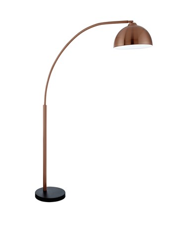 Searchlight Giraffe Floor Lamp With Dome Shade - Copper - Black Base