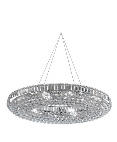 Searchlight Vesuvius 24  Light Oval Crystal Chandelier - Chrome & Crystal