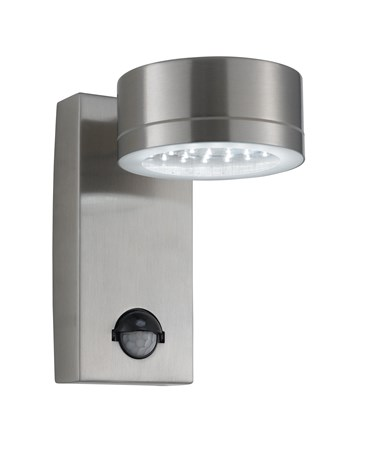 Searchlight Led Outdoor Wall Downlight - Stainless Steel - Pir Sensor - Ip44