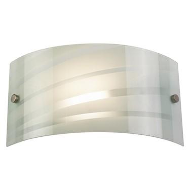 Endon Salsa Wall Light - Patterned White Glass