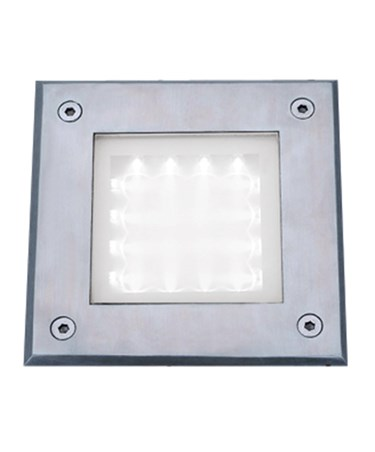 Searchlight Led Recessed Indoor & Outdoor Square Walkover Light 15Cm - Ip67