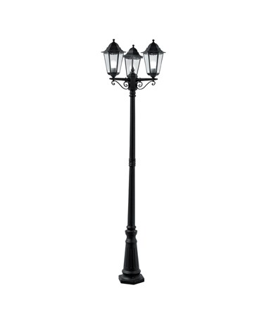 Searchlight Alex Traditional Outdoor Post Lamp - 3 Light - Black