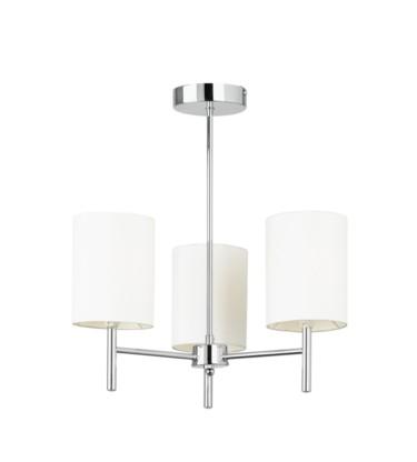 Endon Brio Semi Flush Ceiling Fitting - 3 Light