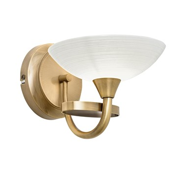 Endon Cagney Wall Light - Antique Brass