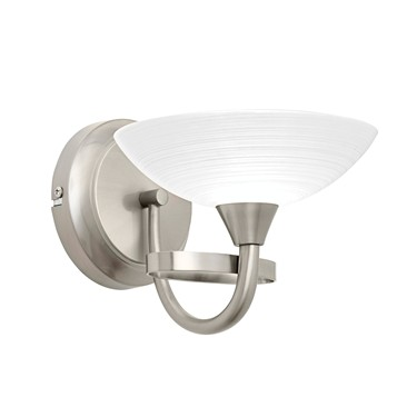 Endon Cagney Wall Light - Satin Nickel