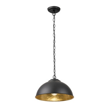 Endon Colman Modern Metal Pendant Light - Matt Black
