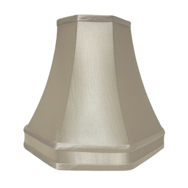 Cream Lined Octagonal Lamp Shade