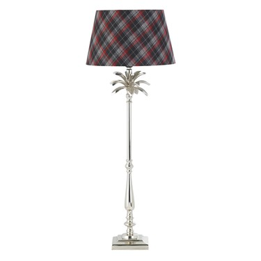 Endon Tall Leaf Table Lamp - Polished Nickel - 785mm - Base Only