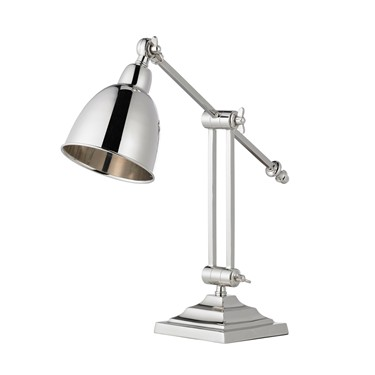 Endon Jackson Twin Stem Table Lamp / Desk Lamp - Polished Nickel