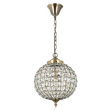 Endon Tanaro Pendant Light - Antique Brass