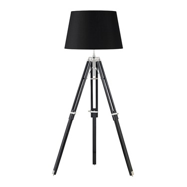 Endon Tripod Wooden Floor Lamp - Base Only - Dark Wood