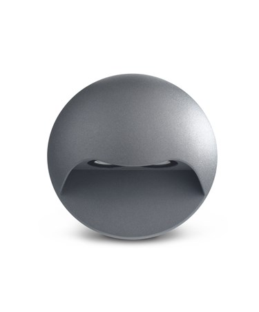 Elipta Gemini Modern Outdoor Downlighter Wall Light - Warm White LED - Graphite