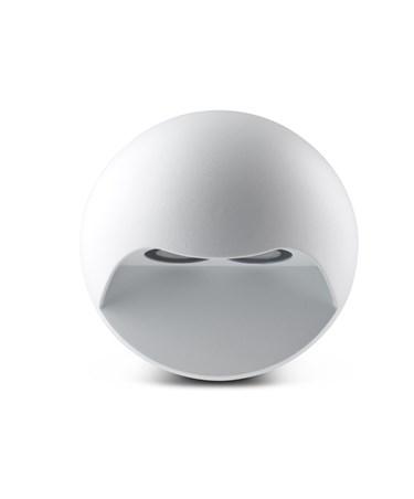 Elipta Gemini Modern Outdoor Downlighter Wall Light - Warm White LED - White