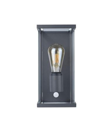 Elipta Kensington Modern Outdoor Wall Light - E27 - Graphite With PIR Sensor