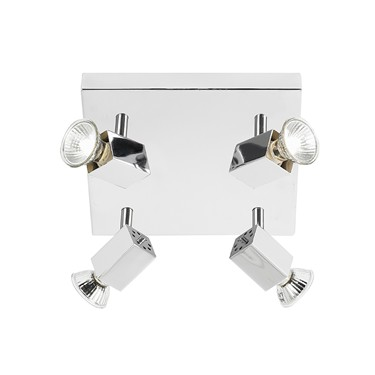 Endon Grove 4 Light Square Spotlight - Adjustable - Chrome