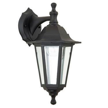 Endon Bayswater 60W Traditional Outdoor Wall Light - Black - IP44