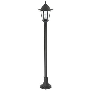Endon Bayswater Outdoor Single Post Light - Matt Black - IP44 - 1.2m