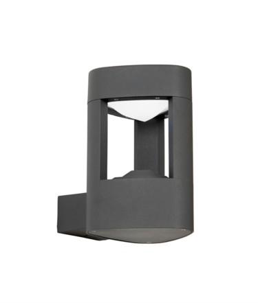 Endon LED Black Cube Outdoor Wall Bracket