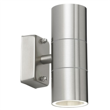 Endon Stainless Steel Silver Double Up and Down Outdoor Wall Light