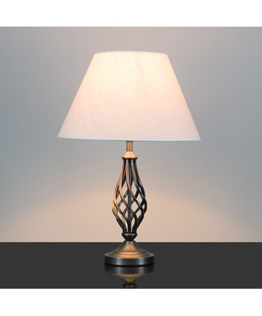 Kingswood Barley Twist Traditional Table Lamp - Antique Copper