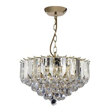 Endon Fargo Pendant Ceiling Light - Medium - Brass