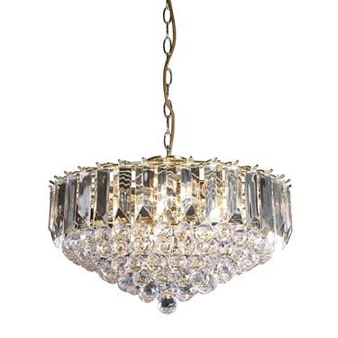 Endon Fargo Pendant Ceiling Light - Large - Brass