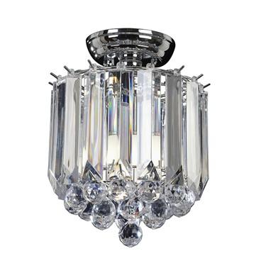 Endon Fargo Flush Ceiling Light - Chrome - 2 Light