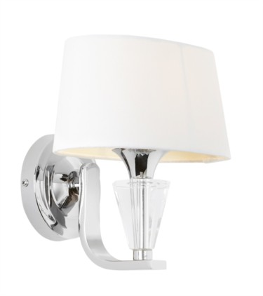 Endon Fiennes Polished Nickel Wall Light and Shade