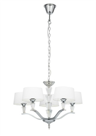 Endon Fiennes Polished Nickel Semi Flush Ceiling Fitting - 5 Light